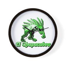 Chupacabra Plain Green Wall Clock