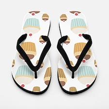 Cupcake Crowd Flip Flops