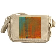 Abstract in Aqua, Copper and Gold Messenger Bag