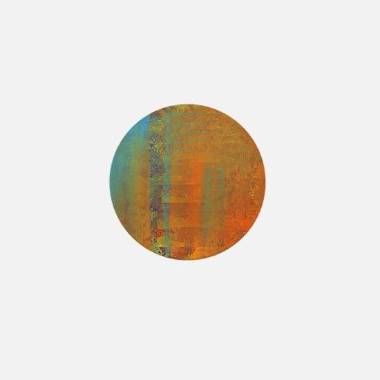 Abstract in Aqua, Copper and Gold Mini Button
