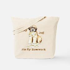 Wheaten Ate Homework Tote Bag