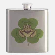 Irish Claddagh / Claddaugh Flask