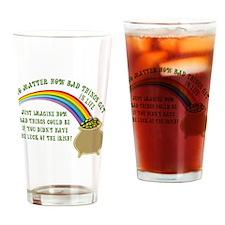 The Luck of the Irish Drinking Glass