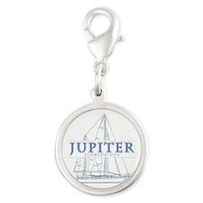 Jupiter Florida - Silver Round Charm