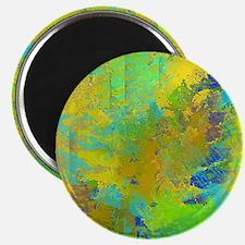 Abstract, Aqua, Copper, Gold, Blue Magnet