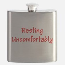 Funny Resting Uncomfortably Get Well Flask