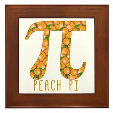 PI Peach Pi Framed Tile