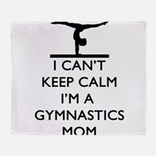 Keep Calm Gymnastics Throw Blanket