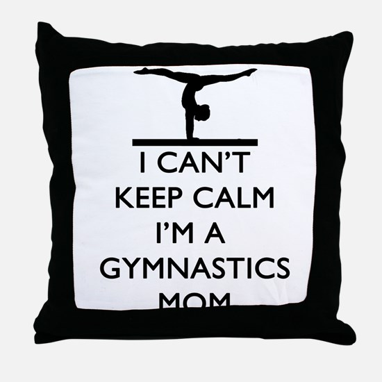 Keep Calm Gymnastics Throw Pillow