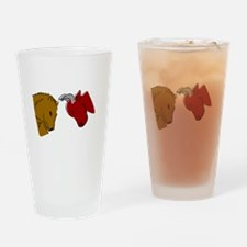 Bull And Bear Drinking Glass