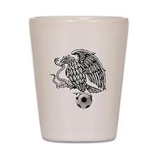 Mexican Football Eagle Shot Glass