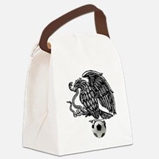 Mexican Football Eagle Canvas Lunch Bag