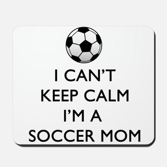 Keep Calm Soccer Mom Mousepad