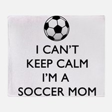 Keep Calm Soccer Mom Throw Blanket