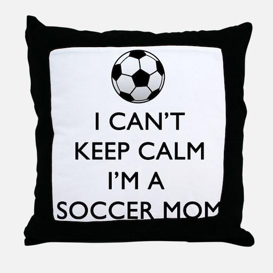 Keep Calm Soccer Mom Throw Pillow