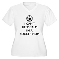 Keep Calm Soccer Mom Plus Size T-Shirt
