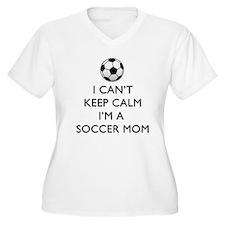 Keep Calm Soccer Mom Plus Size T-Shirt