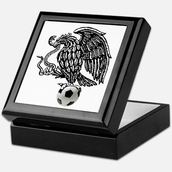 Mexican Football Eagle Keepsake Box