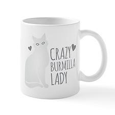 Crazy Burmilla cat Lady Mugs