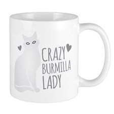 Crazy Burmilla cat Lady Mugs