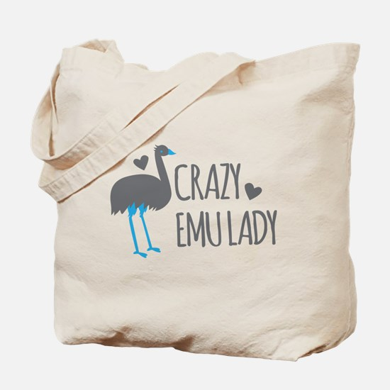 Crazy Emu Lady Tote Bag