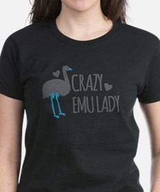 Crazy Emu Lady T-Shirt