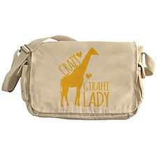 Crazy Giraffe Lady Messenger Bag