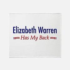 """""""Warren Has My Back"""" Throw Blanket"""