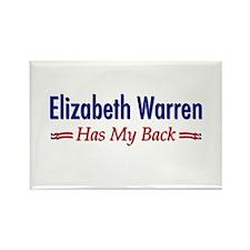 """Warren Has My Back"" Rectangle Magnet"