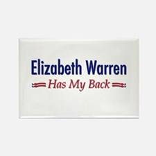 """Warren Has My Back"" Rectangle Magnet"