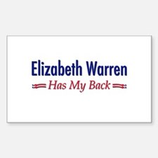 """Warren Has My Back"" Decal"