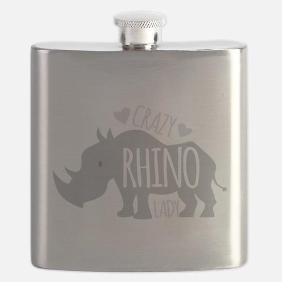 Crazy Rhino Lady Flask