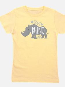 Crazy Rhino Lady Girl's Tee