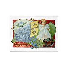 Vintage Victorian seed packet 5'x7'Area Rug