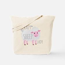 Crazy Sheep Lady Tote Bag