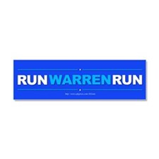 """Run Warren Run"" Car Magnet 10 x 3"