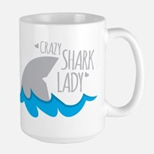 Crazy Shark Lady Mugs