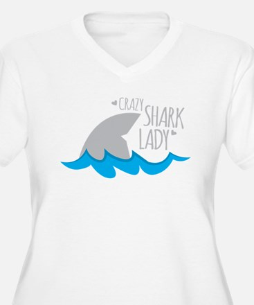 Crazy Shark Lady Plus Size T-Shirt