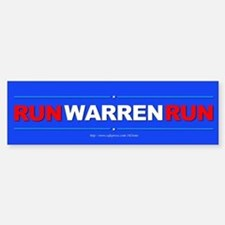 """Run WARREN Run"" Bumper Bumper Sticker"