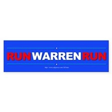 """Run WARREN Run"" Bumper Sticker"