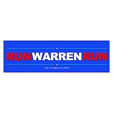 """""""Run WARREN Run"""" Car Sticker"""
