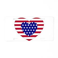 FLAG DESIGNS Aluminum License Plate
