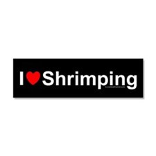 Shrimping Car Magnet 10 x 3