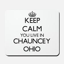 Keep calm you live in Chauncey Ohio Mousepad