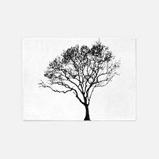Black Tree 5'x7'Area Rug