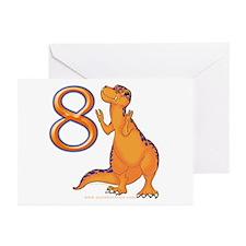 Kids Dino 8th Birthday Invitation Cards (Pk of 10)