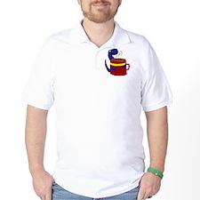 Dinosaur with Coffee T-Shirt