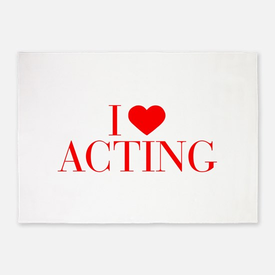 I love Acting-Bau red 500 5'x7'Area Rug