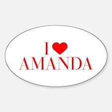 I love AMANDA-Bau red 500 Decal