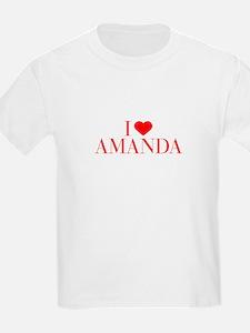 I love AMANDA-Bau red 500 T-Shirt